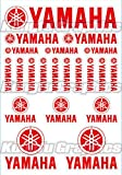 Kungfu Graphics Yamaha Sponsor Logo Racing Sticker Sheet Universal (7.2x 10.2 inch), Red