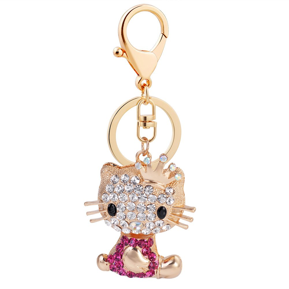 High Grade Resin Pumpkin Car Diamond Keychain Chen-hui jewelry factory Orange Pumpkin Keychain EASYA Key Keychain Fashion Luxury Car Key Ring