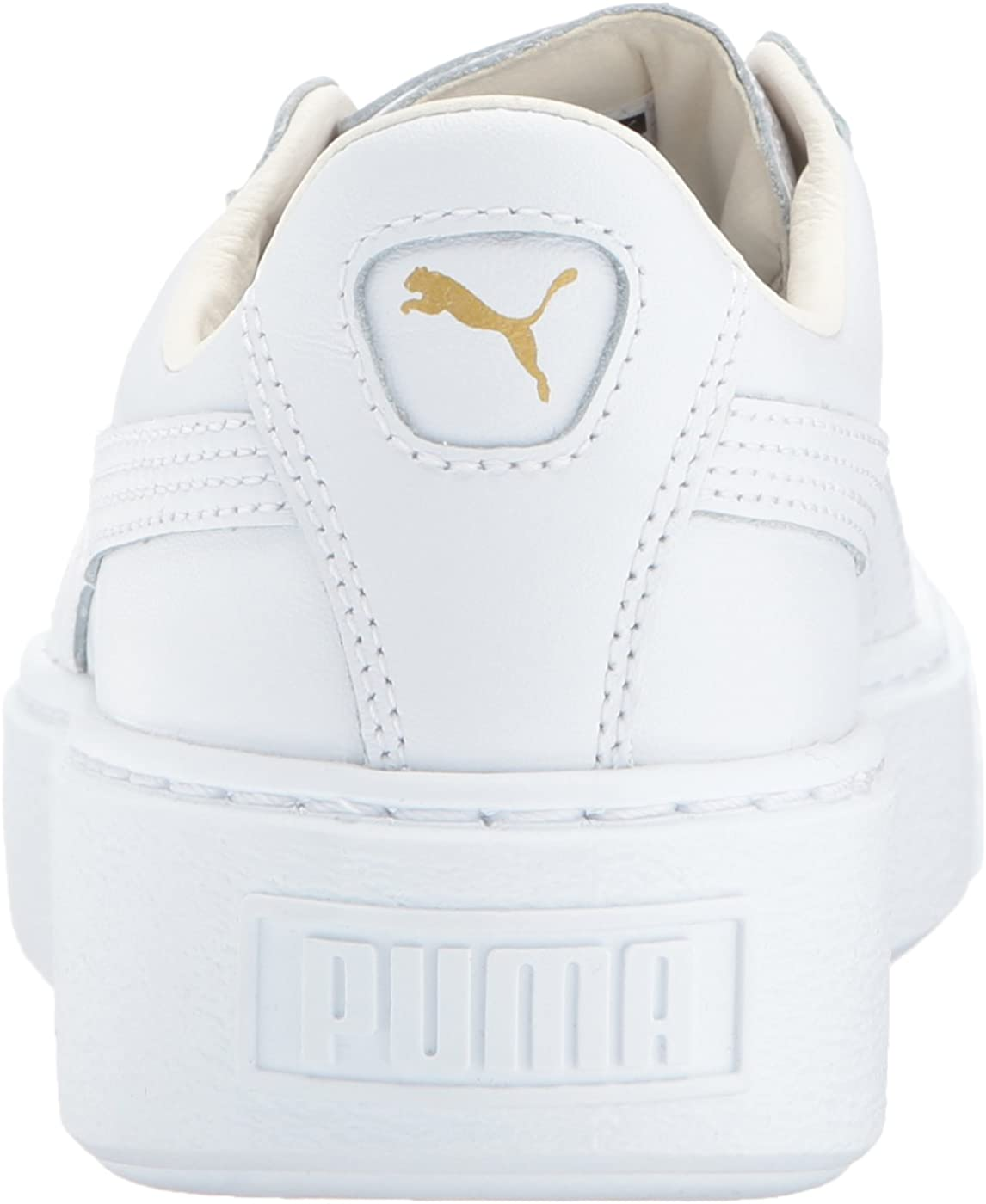 puma basket platform core white gold