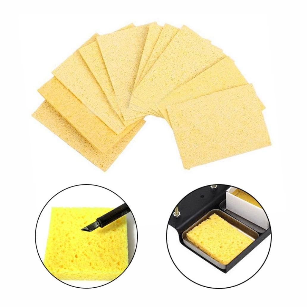 Liping High Temperature Sponge Clean Soldering Iron Solder Welding Head Cleaning Sponge Remove Tin (10PCS)