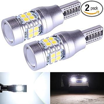 NINGLE 921 LED Bulb Reverse Light White Extremely Bright 906 912 T15 W16W 579 921 LED Bulb for Backup Reverse Light Pickup Truck Cargo Light Bulbs Canbus Error Free 6000K (Pack of 2)