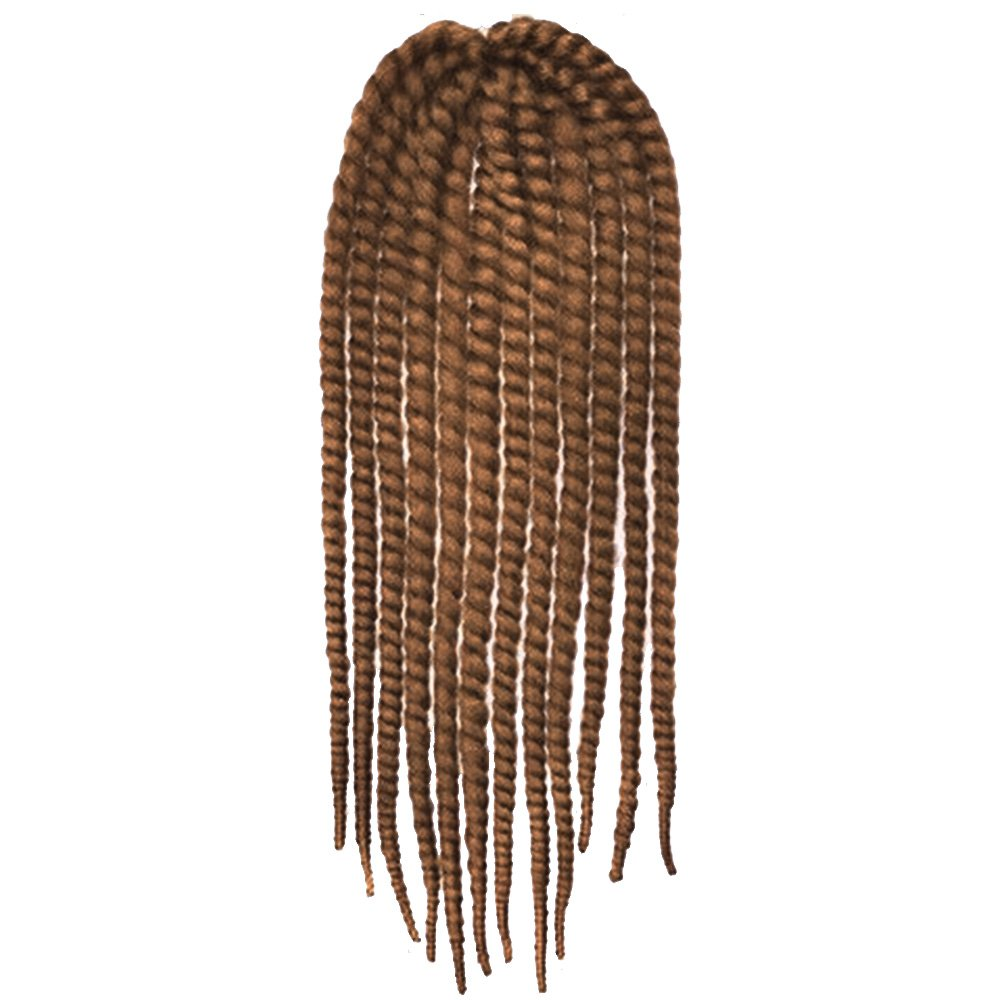 Elisona-24inch Havana Mambo Twist Crochet Braid Hair Synthetic Senegalese For African American Women Brown