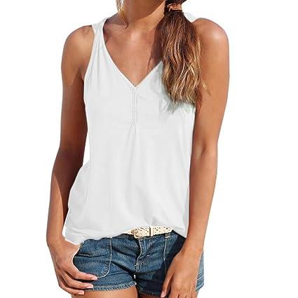 Logobeing Verano Mujer Blusa Camisa - Chaleco Sin Mangas - Casuales - Camisetas Sin Mangas Blusas