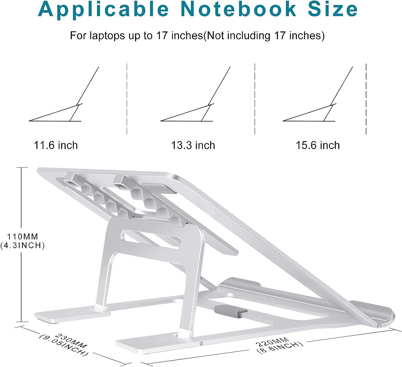 Amllux Portable Ergonomic Angled Laptop Aluminum Stand Foldable ...