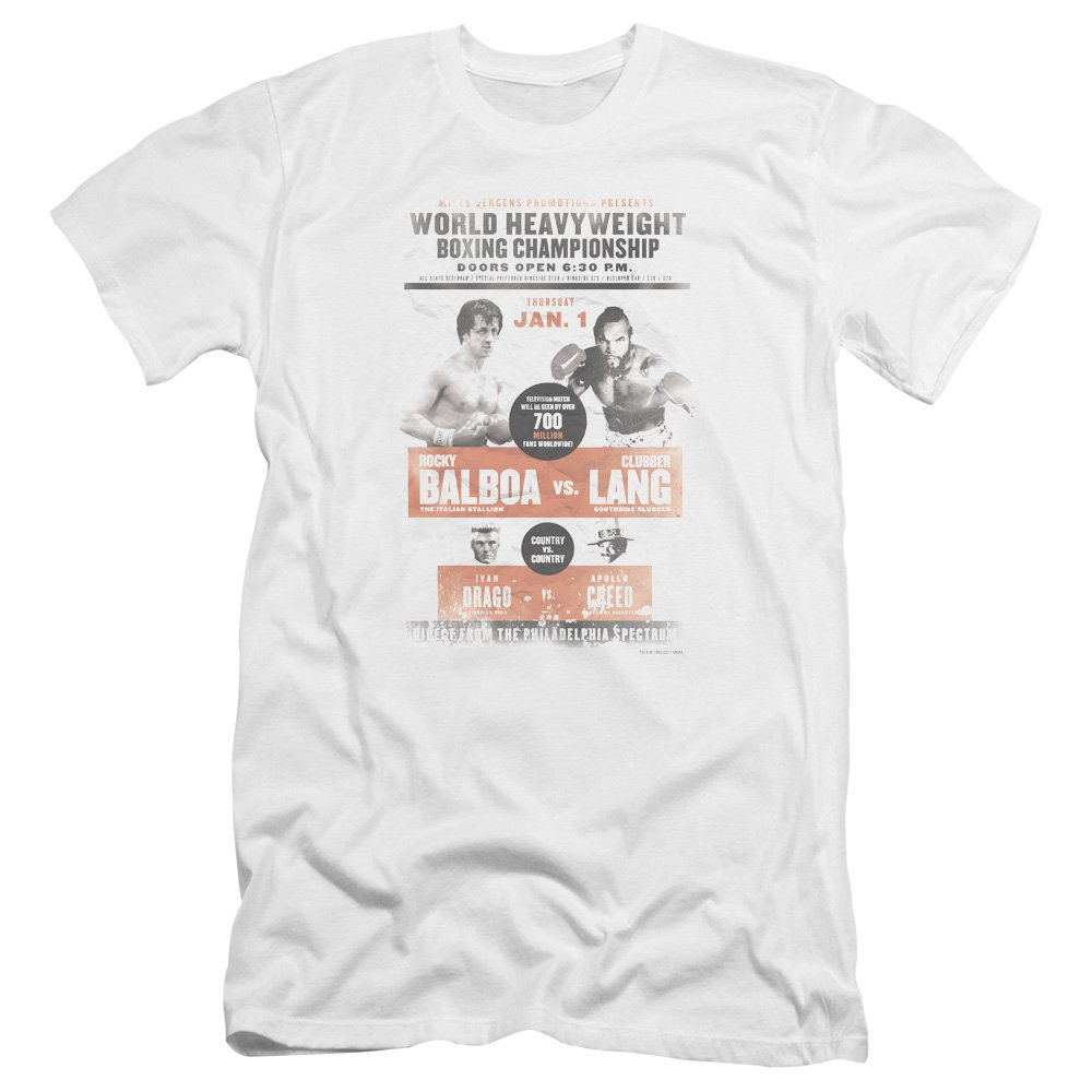 White Rocky Iii - Mens Vs Clubber Poster Premium Premium Premium Slim Fit T-Shirt 2a6587