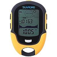 SUNROAD Outdoor Multifunctional Boussole Waterproof LCD Digital Compass Altimètre Baromètre LCD étanche à l'eau