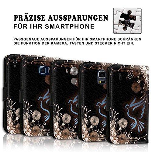 Wallet Book Style Flip Handy Tasche Case Schutz Hülle Schale Motiv Etui für Apple iPhone 6 Plus / 6S Plus - Design Flip MV114