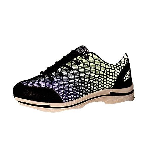 Zapatillas de Seguridad para Hombre - Ligeras Comodas Antideslizante Calzado de Trabajo Protegidos con Puntera de Acero Hombres Negro Tamaño 35-46: ...