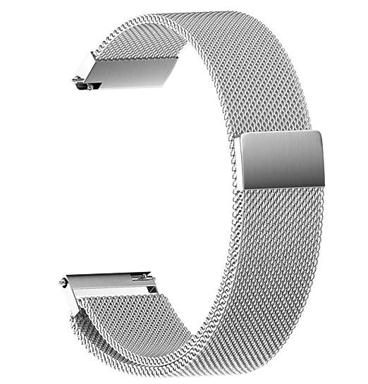 JiaMeng para Cintas magnéticas milanesas, Moda de Acero Inoxidable Correa de Reloj Repuesto de la