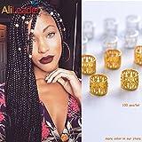 AliLeader Dreadlock Beads for Hair Adjustable No Rust Aluminum Metal Cuffs Beads 8.5mm 100pcs Braiding Hair Decoration Jewelry (MIX)