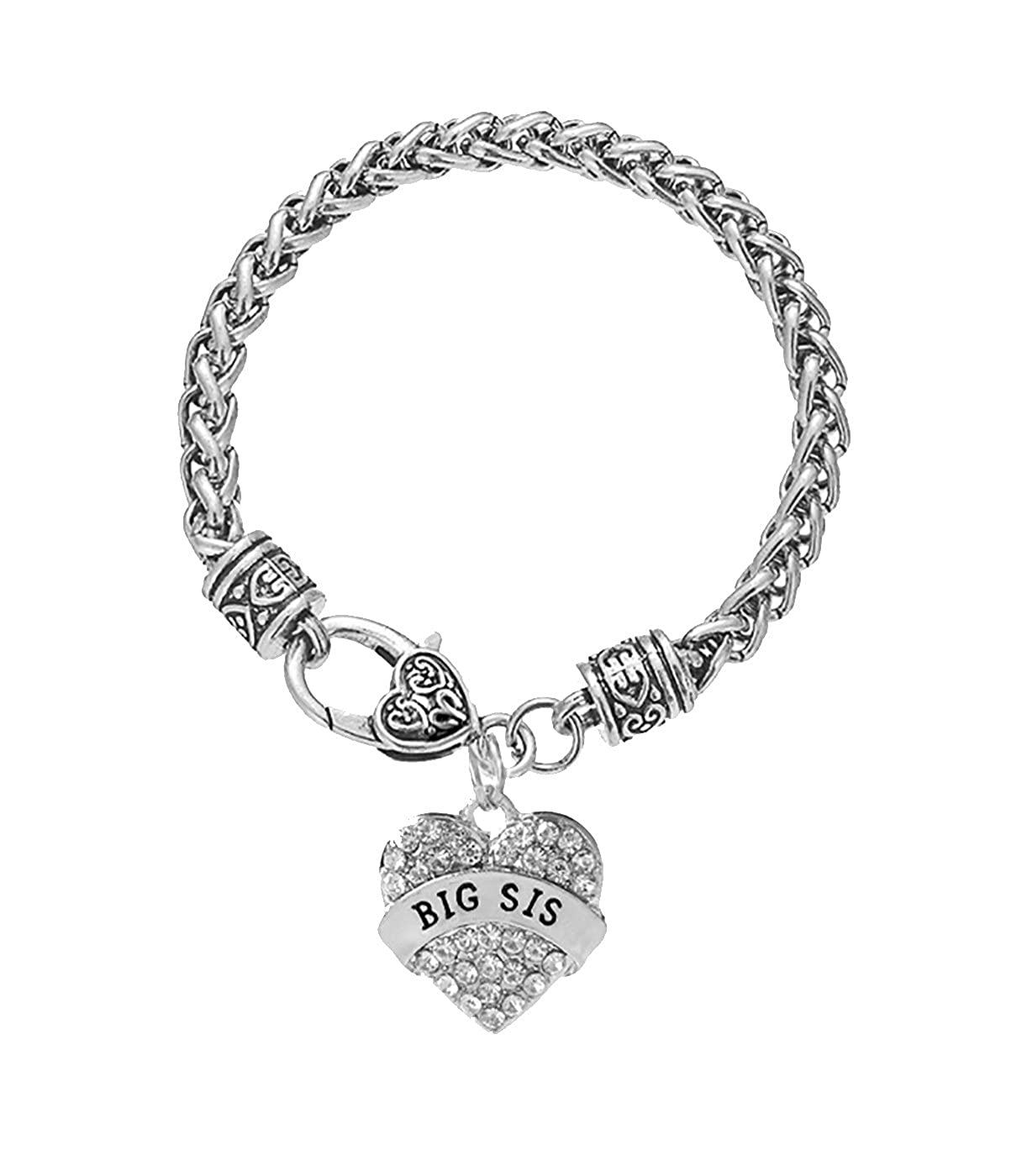 Eternal Classical Best Sister Jewelry Heart Shaped Bracelet Gifts For Sister Christmas Birthday Gifts.