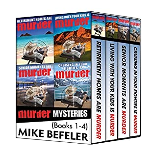 book cover of Paul Jacobson Geezer-lit Mystery Series Books 1-4