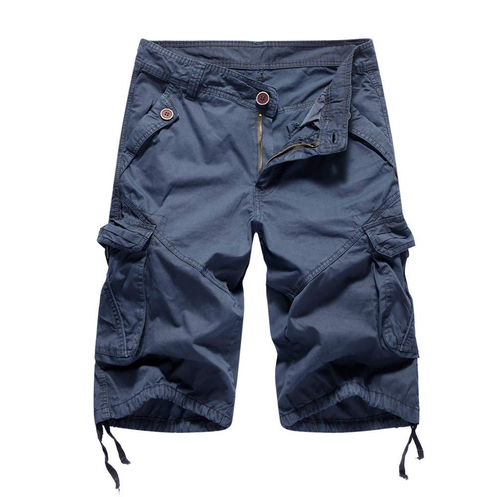 Alalaso Shorts Casual Training Shorts Men Mens Shorts Big and Tall high Waisted Shorts Plus Size Men Gym Shorts Dark Blue