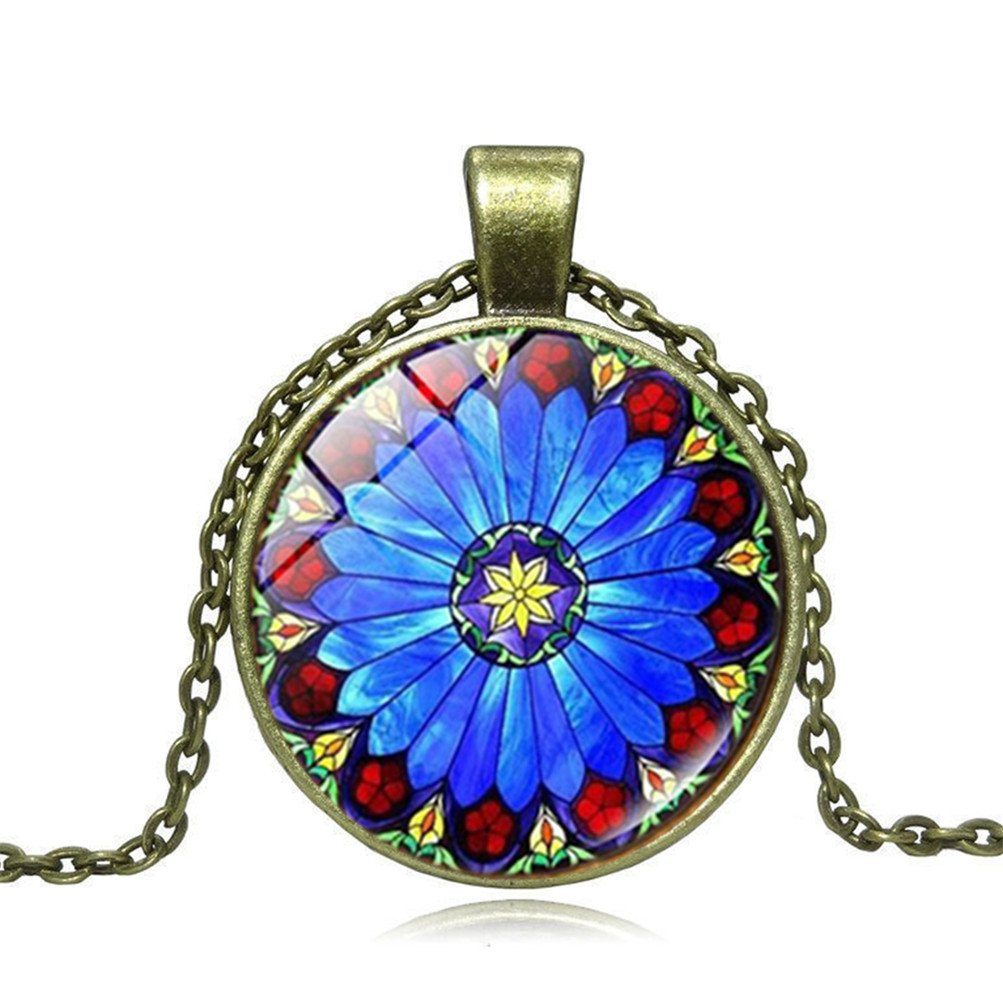 Mrsrui Bohemian Style Flower Photo Sweater Necklace Perfect Gift For Women Girl