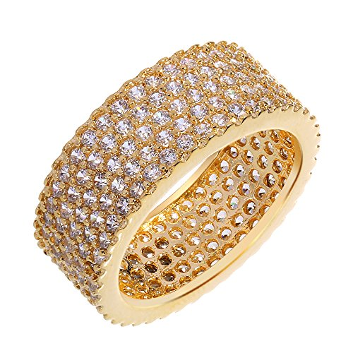 PSRINGS Gold plated with cubic zircon copper Rings Lord of the ring Bangle Ring South-west style birthday gift 6.0 (Cell Of Film Rings Mini The Lord)