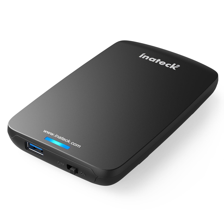Inateck FE2002 - Carcasa para disco duro, 2,5', de 9,5 mm 7 mm, SATA HDD y SSD, cable USB 3.0, compatible con Windows 2000 / XP / Vista / 7/8, Mac OS 9.1/10.8.4, color negro 5 FBA_FEU3NS-1