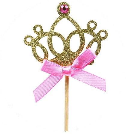 Juego de 30 coronas de princesa para tartas de fiesta ...