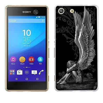 Sony Xperia M5 Funda, Fubaoda [angelo stanco] Prima Híbrido Anti-rasguños Marco Bumper Carcasa Doble Capa TPU de funda para Sony Xperia M5 (E5603 ...