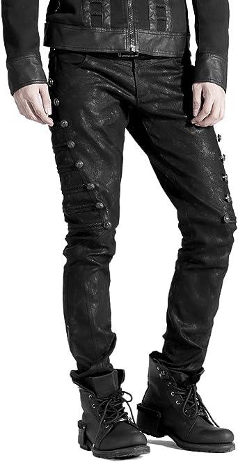 Punk Rave Dieselpunk Pantalones Vaqueros Militares Para Hombre Color Negro Amazon Es Ropa Y Accesorios