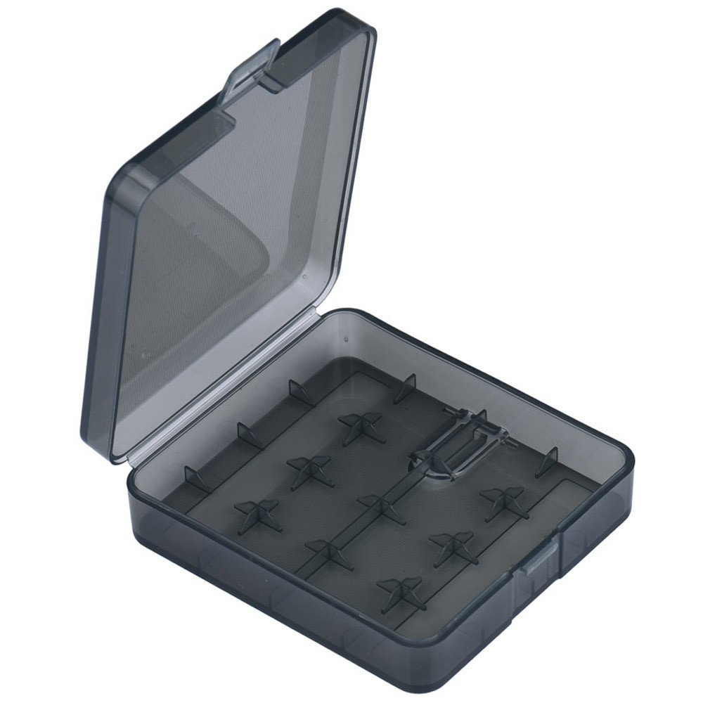 Huangou ❤❤ Battery Case Box Holder ❤ Portable Hard Plastic Battery Case Holder Storage Box for 4x18650 Batteries (Dark Gray, 80 X 73 X 23mm)