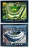Framed NY Yankee Stadium Old and New Prints - SET OF 2
