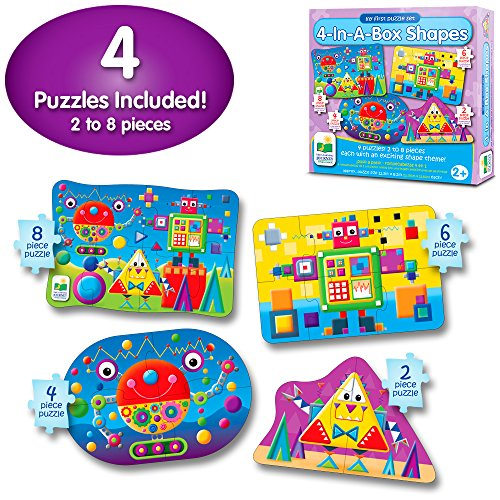 The Learning Journey My First 4-In-A-Box Puzzle - Shapes - Educational Toddler Toys & Gifts for Boys & Girls Ages 2 & Up