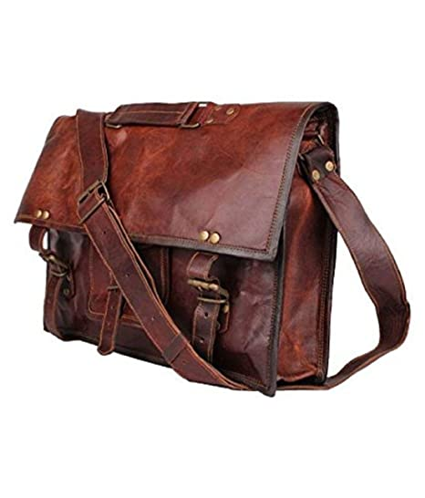 42f1c311126a Mk Bags vintage bags genuine leather messenger bag cum office bag 59:  Amazon.in: Bags, Wallets & Luggage