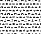 Vintage Fabric - Video Games Pattern by cloudycapevintage - Vintage Fabric with Spoonflower - Printed on Basic Cotton Ultra Fabric by the Yard