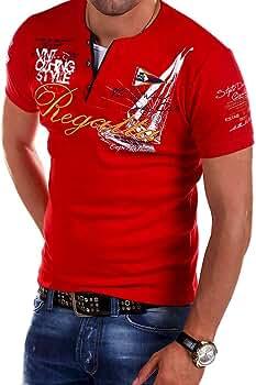YanHoo Moda para Hombre, Carta, botón, Personalidad Camisa Manga Corta Camiseta Blusa Tops VNT CLTHING Style Camiseta de Manga Corta con Botones de Primavera y Verano para Hombres: Amazon.es: Ropa y accesorios
