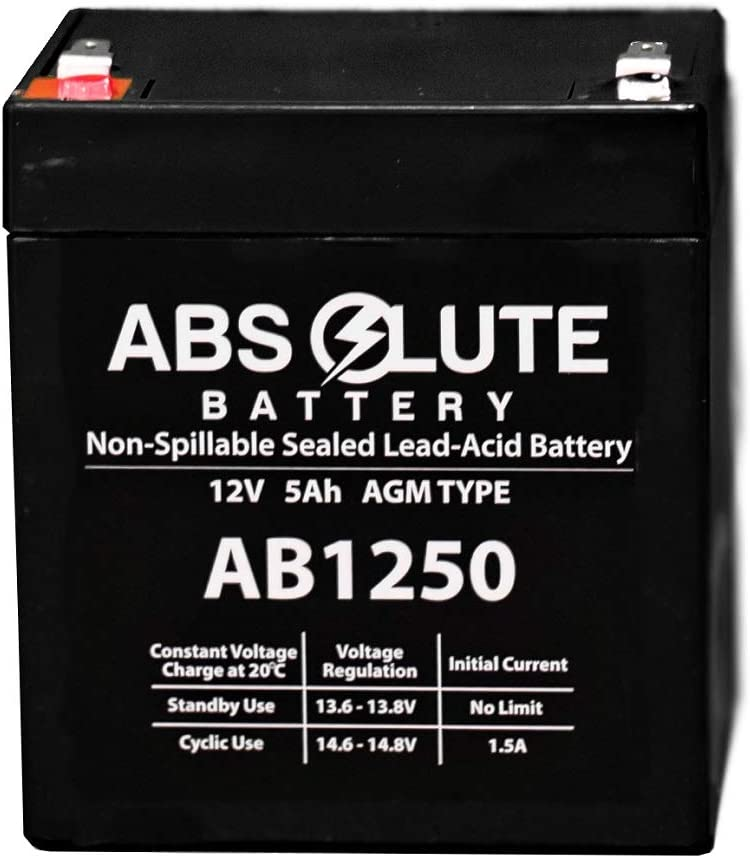 DLA2200RMI2U UPS Battery 2 Pack New AB1250 12V 5Ah APC Dell Smart-UPS 2200
