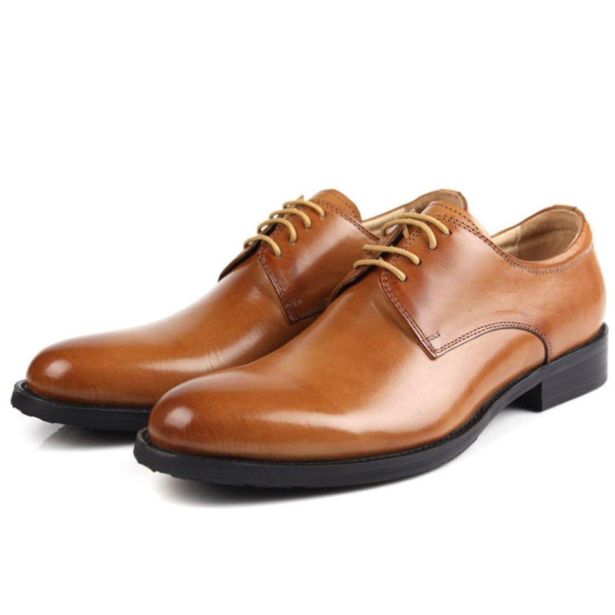 GTYMFH Männer Geschäft Kleidschuhe Runder Kopf Herrenschuhe Leder Niedrige Schuhe Schuhe Casual