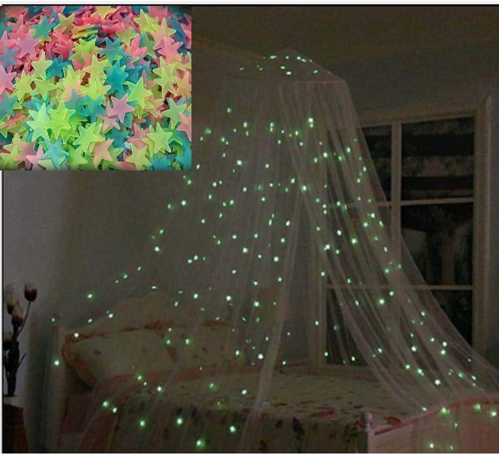 Etoiles Fluorescents et phosphorescents dans lobscurit/é Wall Sticker D/écoration Murale Chambre de b/éb/é Child Viewk Lune et /Étoile Autocollants Lumineux