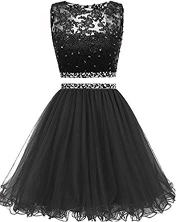 FWVR Women's Lace 2 Piece Prom Dresses