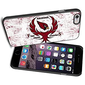American Football NFL ARIZONA CARDINALS Fire from the Heven, Cool iPhone 6 Case Cover Collector iPhone TPU Rubber Case Black