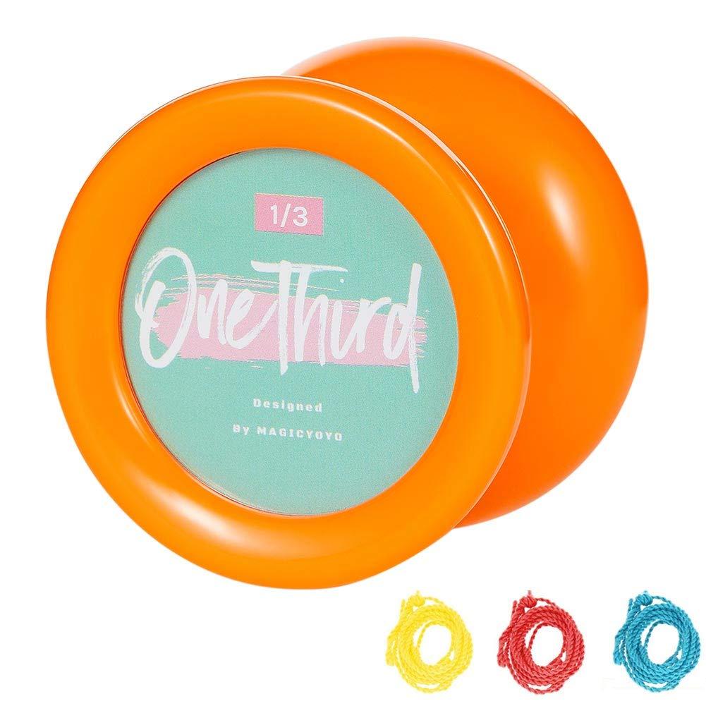 YOSTAR Yoyo for Kids, Responsive Yoyo MAGICYOYO D2 One Third - Orange Plastic Yoyo - Looping Yoyo for Beginner, Adults, Bearing Changeable, 3 Strings, Easy to Play.