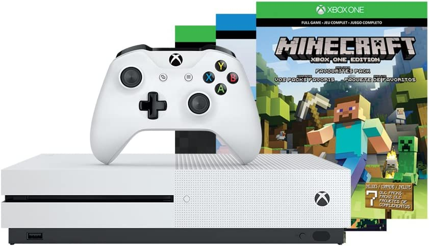 Amazon com: Xbox One S 500GB Console - Minecraft Bundle