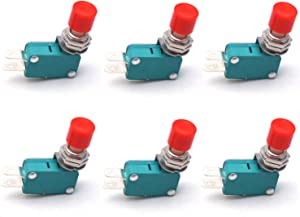 Antrader 6PCS DS438-448 SPDT 12MM Push Button Micro Limit Mini Switch for Arduino