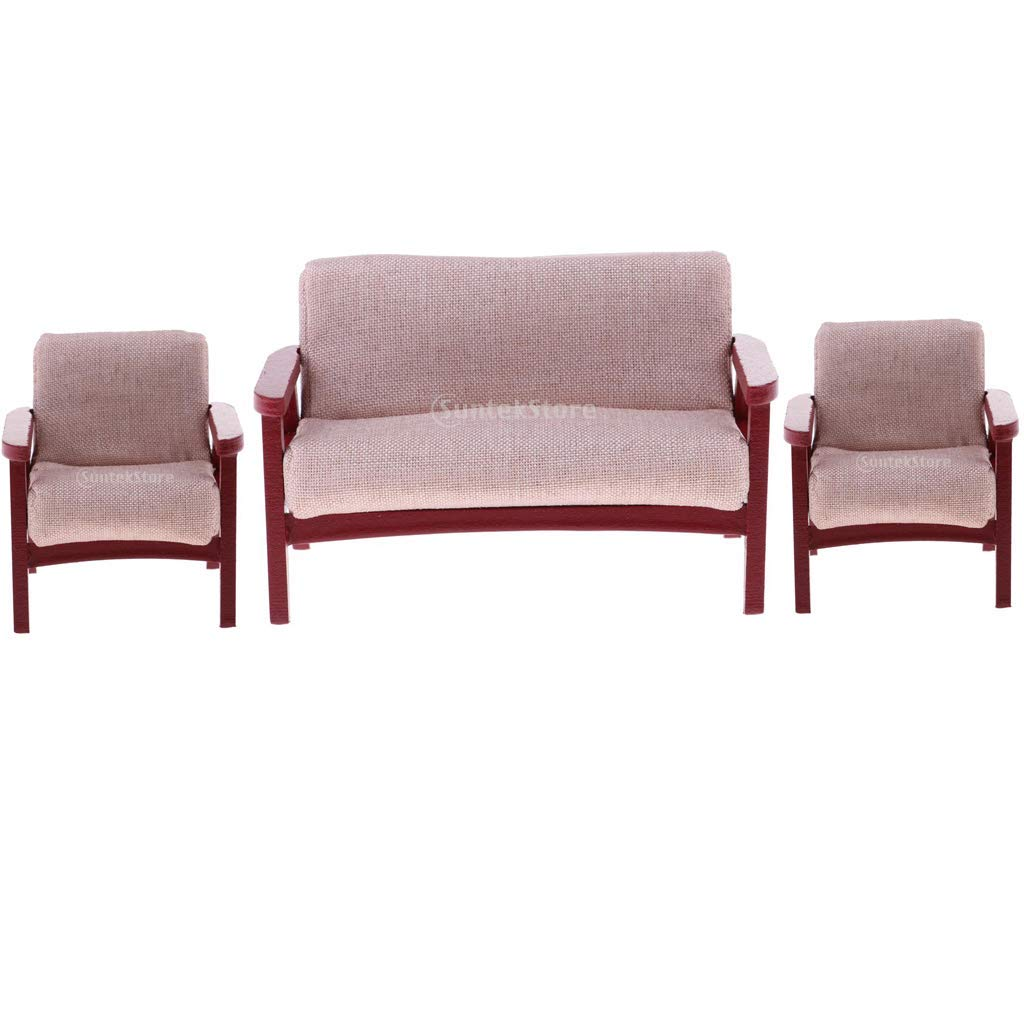 Astonishing Amazon Com Kodoria 3Pcs 1 12 Dollhouse Wooden Furniture Set Dailytribune Chair Design For Home Dailytribuneorg