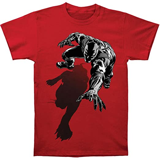 cd0cde539a Amazon.com  Marvel Black Panther Men s Shadow Slim Fit T-shirt Red  Clothing
