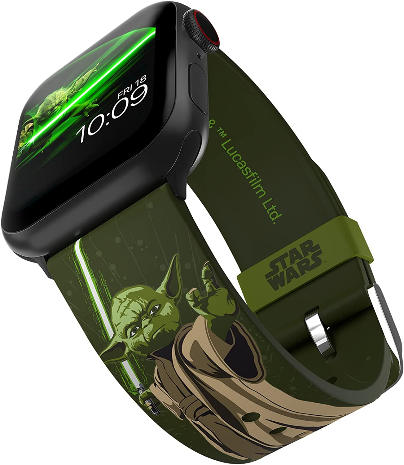 Star Wars - Yoda Smartwatch Band - Officially Licensed, Compatible with Apple Watch (not Included) - Fits 38mm, 40mm, 42mm and 44mm