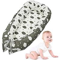 Baby Lounger, leegoal portable doux et respirant nouveau-né bassinet infantile, housse amovible et confortable nouveau-né Cocoon Snuggle lit pour les nourrissons et les tout-petits 0-24 mois