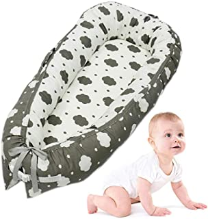 Baby Lounger, LEEGOAL Portable Super Soft and Breathable Newborn Infant Bassinet, Comfortable and Removable Newborn Cocoon Snuggle Bed for Infants & Toddlers 0-24 Month