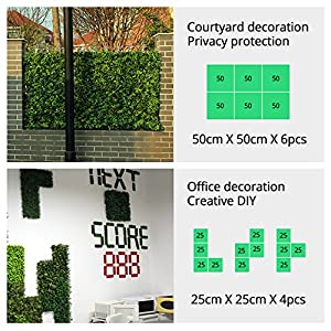 ULAND Artificial Hedges Panels, Outdoor Greenery Ivy Privacy Fence Screening, Home Garden Wedding Decoration 26