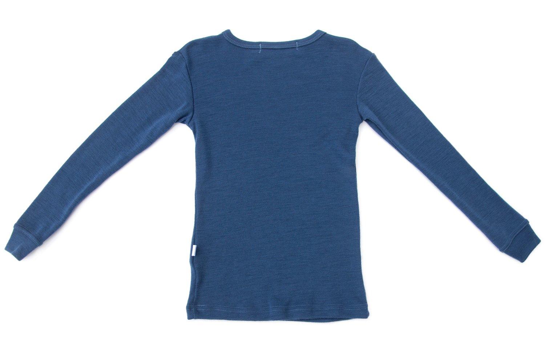 Pure Merino Wool Kids Thermal Top. Base layer Underwear Pajamas. BLUE 9-10 Yrs by Simply Merino (Image #7)