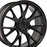 20x9 Wheel Fits Dodge, Chrysler - Challenger, Charger Hellcat Style Black Rim