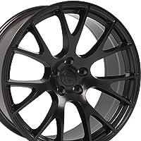 22x10 Wheels Fit Dodge, RAM Trucks & SUV's - Hellcat Style Rim - Black - SET