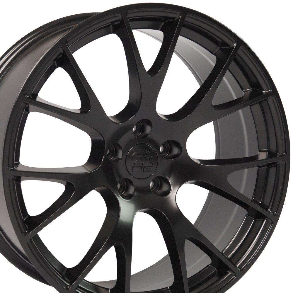 20X9 Wheels Fit Dodge, Chrysler - Challenger, Charger Hellcat Style Rims - Black - SET
