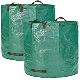 DYHQQ 5-Pack 272L Garden Bag - Reuseable Heavy Duty Gardening Bags, Lawn Pool Garden Leaf Waste Bag,5Bag