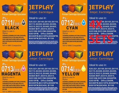 Jetplay TO715 / TO895 / E-715 - Cartuchos de tinta de repuesto ...