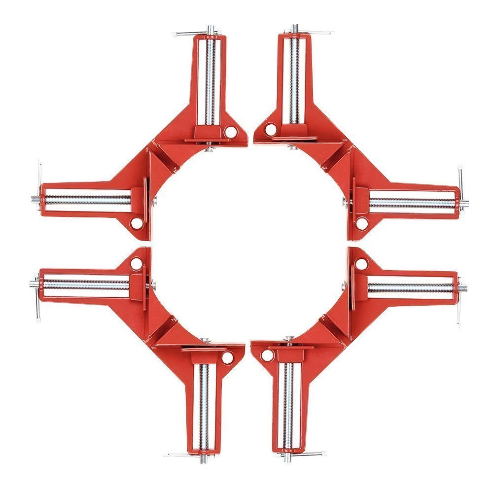 Zinc Alloy Right Angle Clamp 90 Degree Clamp Miter Picture Frame Clamp for Woodworking Kit Framing Vise Holder - 4pcs Corner Clamp TUYOU
